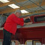 Graeme Bennett bolting up sparkguard